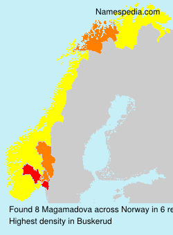 Surname Magamadova in Norway