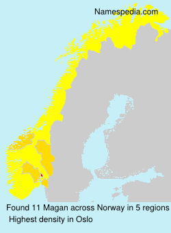 Surname Magan in Norway