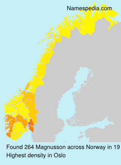 Surname Magnusson in Norway