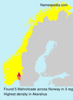 Familiennamen Mahrofzade - Norway