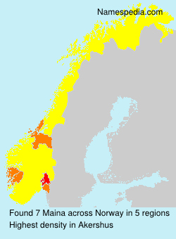 Surname Maina in Norway