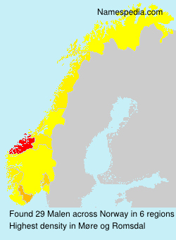 Surname Malen in Norway