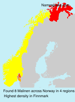 Surname Malinen in Norway