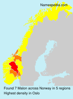 Surname Malon in Norway