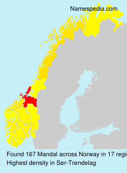 Surname Mandal in Norway