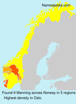 Surname Manning in Norway