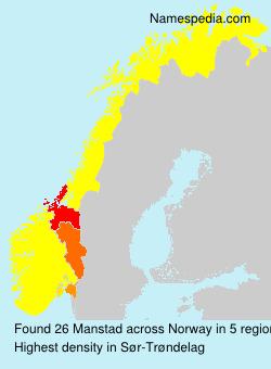 Familiennamen Manstad - Norway