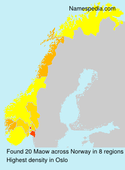 Surname Maow in Norway
