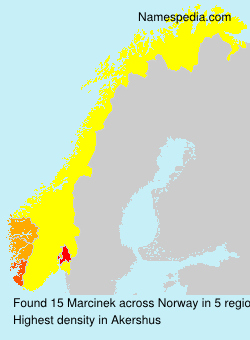 Surname Marcinek in Norway