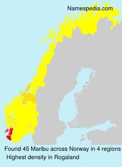 Familiennamen Maribu - Norway