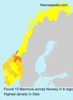 Surname Marinova in Norway