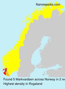 Surname Markvardsen in Norway