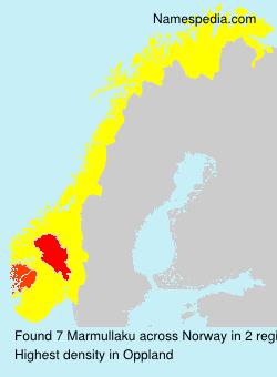 Surname Marmullaku in Norway