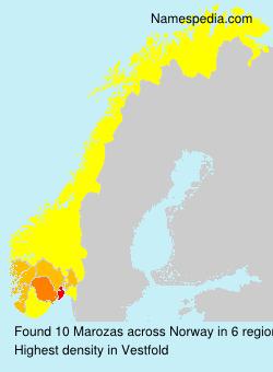 Surname Marozas in Norway