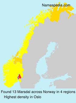 Surname Marsdal in Norway