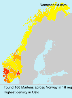 Surname Martens in Norway