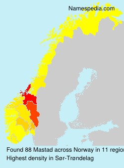 Surname Mastad in Norway