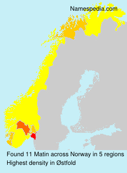 Surname Matin in Norway
