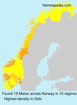 Surname Matos in Norway