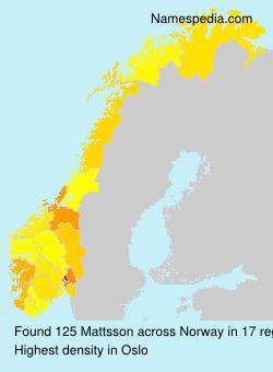 Familiennamen Mattsson - Norway