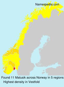 Surname Matusik in Norway