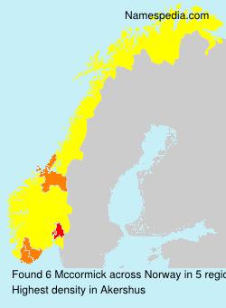 Surname Mccormick in Norway