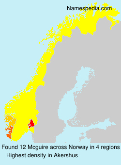 Familiennamen Mcguire - Norway