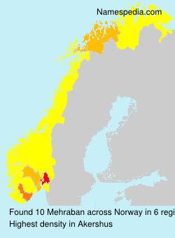 Surname Mehraban in Norway