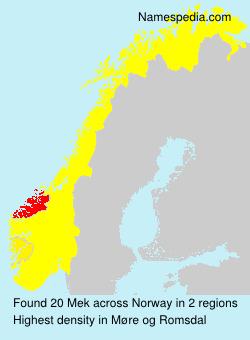 Surname Mek in Norway