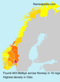 Surname Melbye in Norway