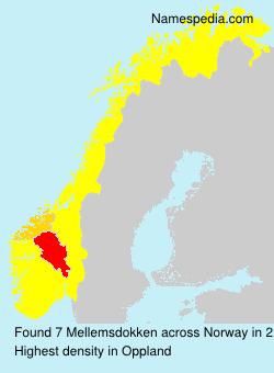 Surname Mellemsdokken in Norway