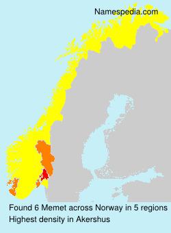 Surname Memet in Norway