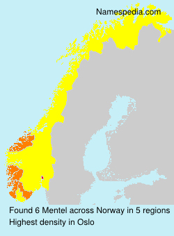 Surname Mentel in Norway