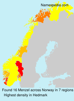 Surname Menzel in Norway