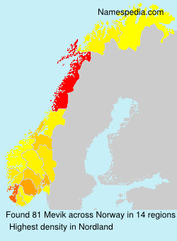 Surname Mevik in Norway