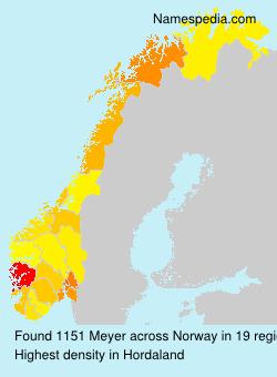 Surname Meyer in Norway
