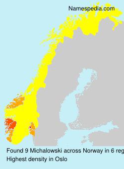 Familiennamen Michalowski - Norway
