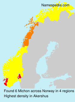 Surname Michon in Norway