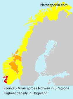 Surname Milas in Norway