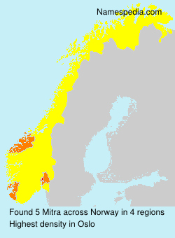 Surname Mitra in Norway
