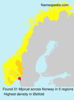 Surname Mjorud in Norway