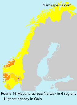 Surname Mocanu in Norway