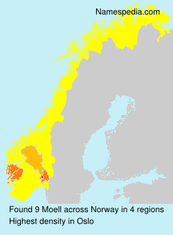 Surname Moell in Norway
