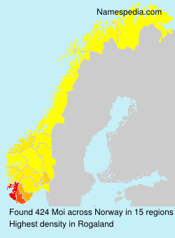 Surname Moi in Norway