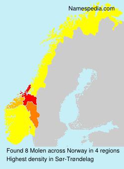 Surname Molen in Norway