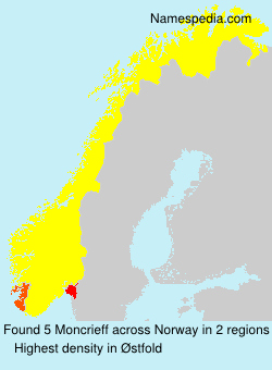 Surname Moncrieff in Norway