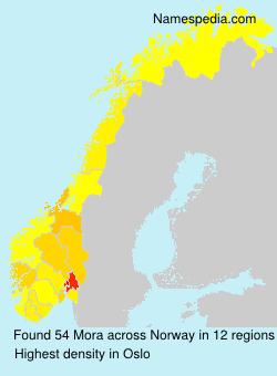 Surname Mora in Norway