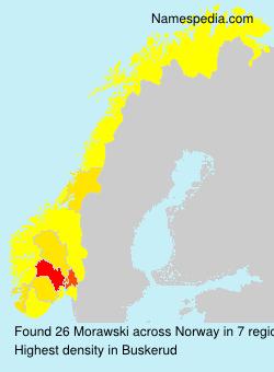 Surname Morawski in Norway