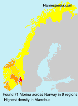 Surname Morina in Norway