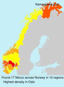 Surname Moroz in Norway